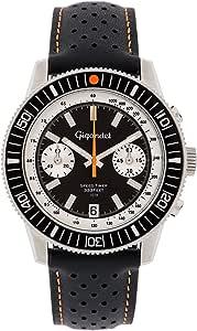 Gigandet G7-010 - Reloj para Hombres, Correa de Cuero Color Negro