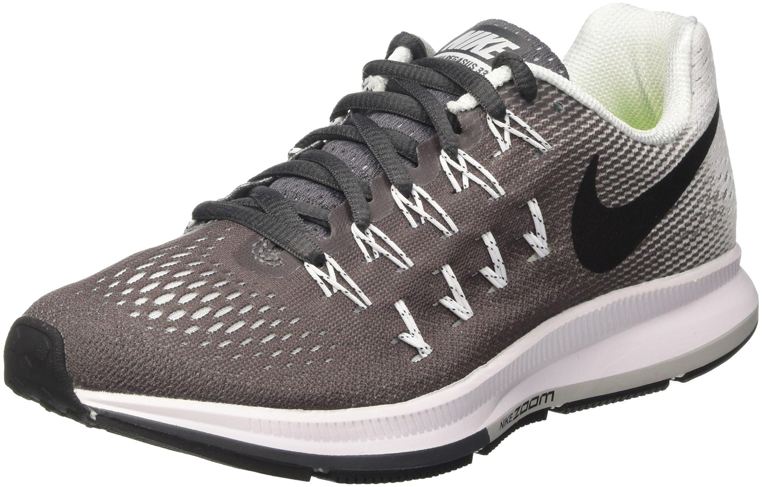 NIKE Women's Air Zoom Pegasus 33 Dark Grey/Black/White Running Shoe 5 Women US