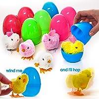 PREXTEX Huevos de Pascua de Juguete Grandes Rellenos