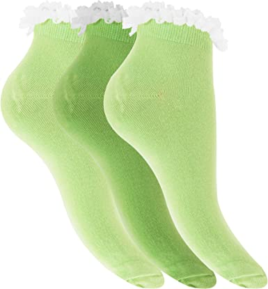 Pack Of 6 Womens//Ladies Plain Trainer Socks