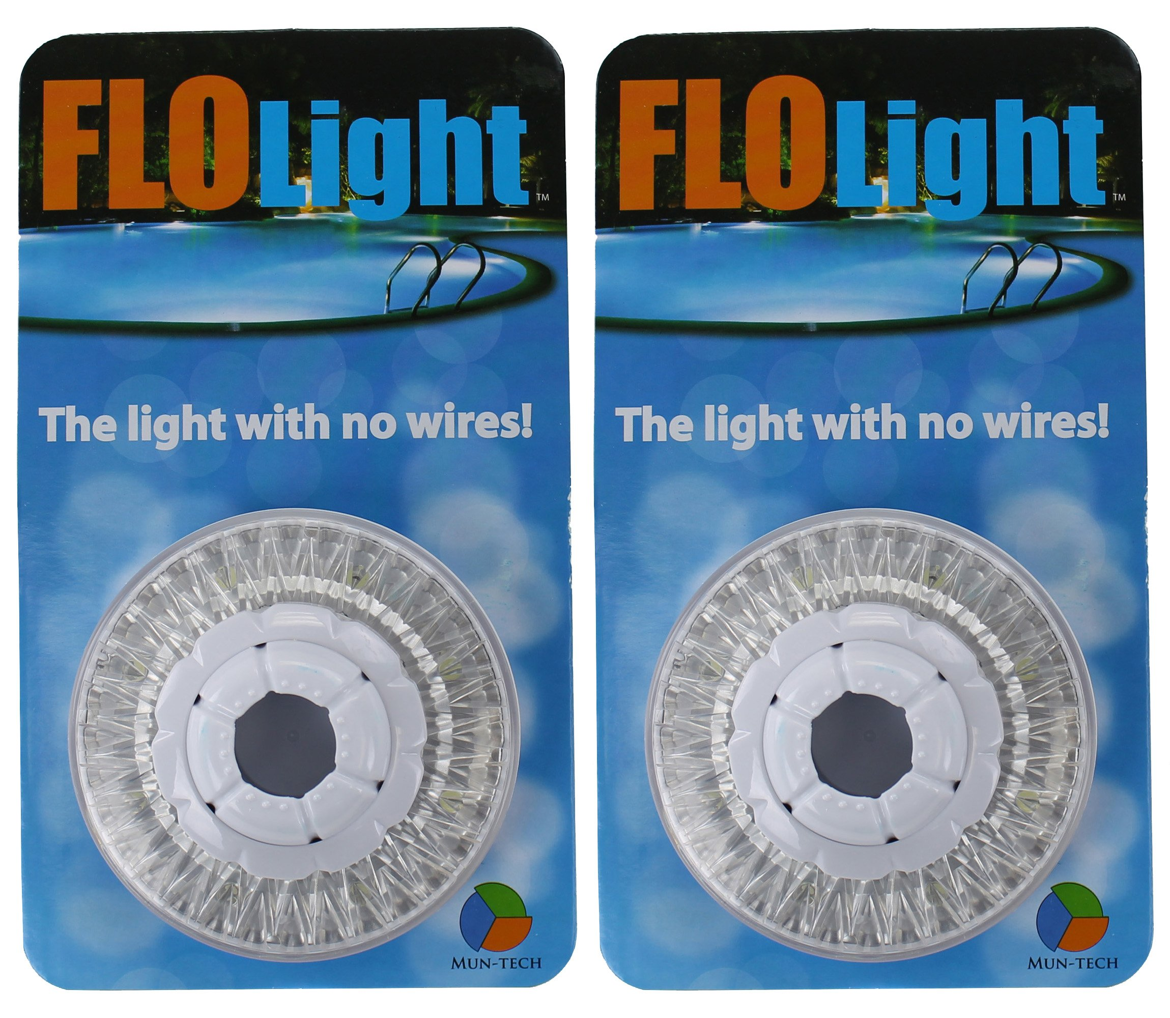 2) LED Swimming Above Inground Pool Flo Lights Wireless Universal Return - Pair