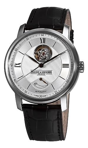 Baume Mercier Men s 8869 Classima Executives Open Silver Guilloche Dial Watch