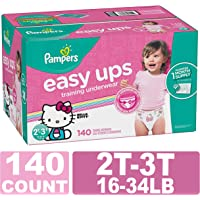 Pampers Easy Ups Training Girls Underwear, 4T-5T, 104 Count,  ONE MONTH SUPPLY
