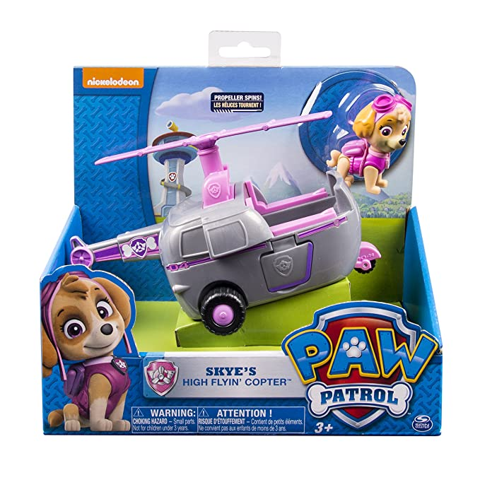 Paw Patrol Skyes High Flyin Copter, Vehicle and Figure