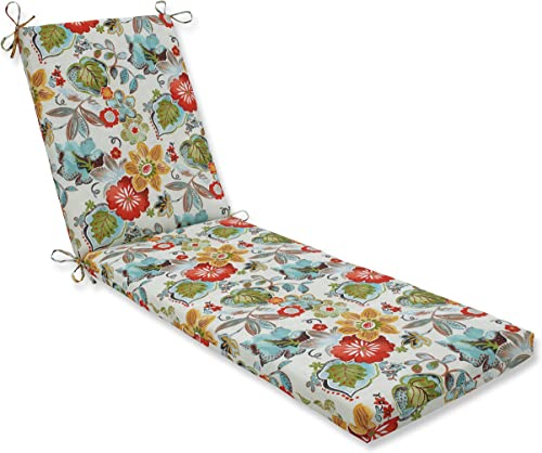 Pillow Perfect Outdoor Indoor Alatriste Ivory Chaise Lounge Cushion, 80 x 23 , Floral