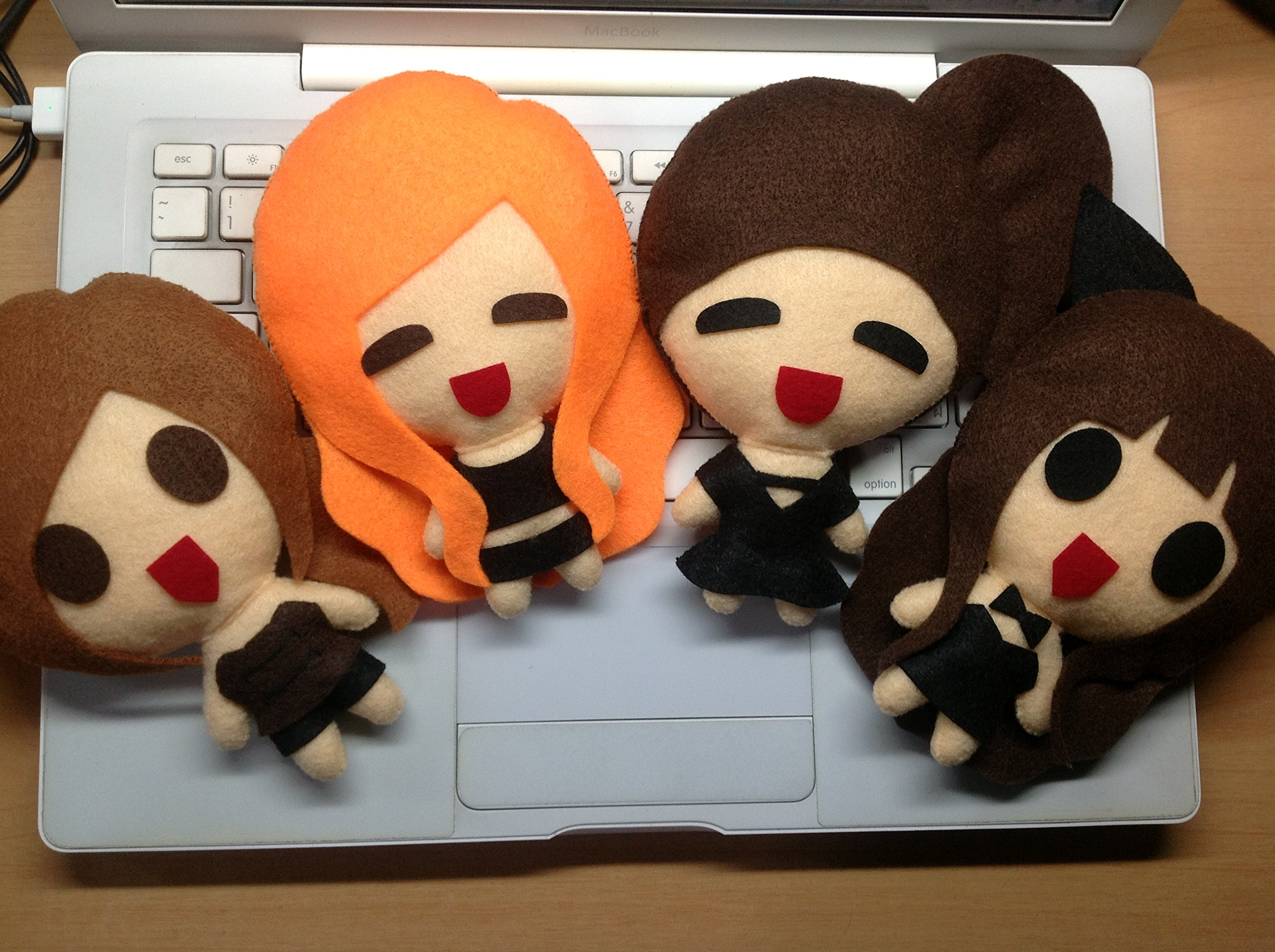 [SET of 4][M Size] Miss A - Good Bye Baby KPOP Handmade Doll Keychains