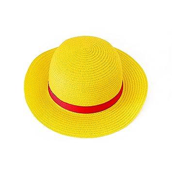 Sombrero de Paja para One Piece Monkey Luffy Ruffy Disfraz  Amazon ... e3fe8002f94