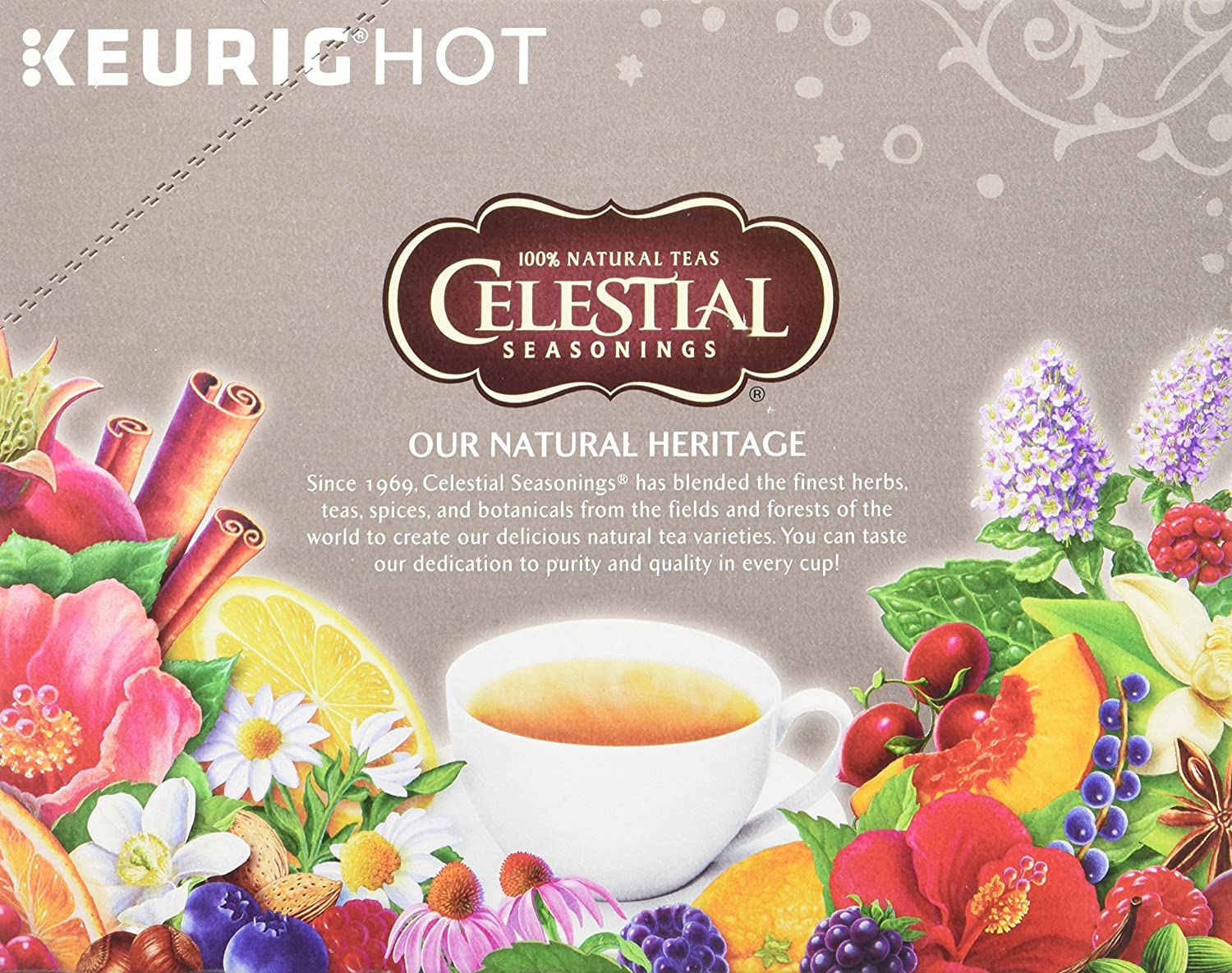 Celestial Seasonings Lemon Zinger Herbal Tea, K-Cup Portion Pack for Keurig K-Cup Brewers