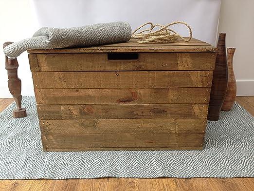 Baúl de madera rústico/almacenaje/Trunk - diseño baúl mesa de ...