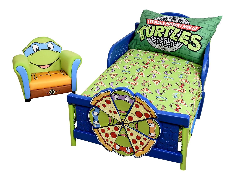 Teeange Mutant Ninja Turtles 2 Piece Toddler Sheet Set Nemcor 41516-311-2PAK-TMNT