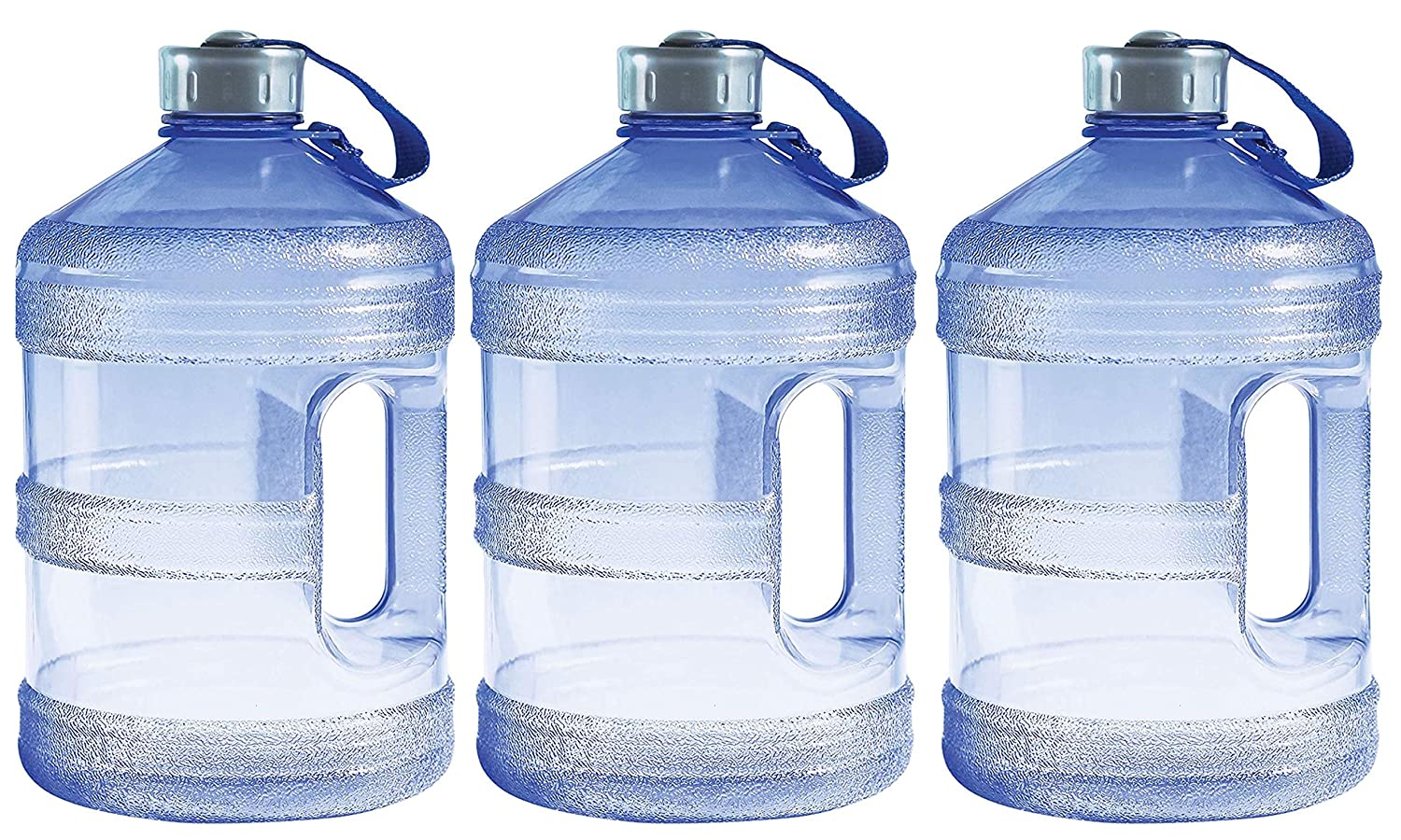 69e8b3fc35 Amazon.com : New Wave Enviro BpA Free 1 Gallon Water Bottle (Round)  (3.(Pack)) : Sports & Outdoors