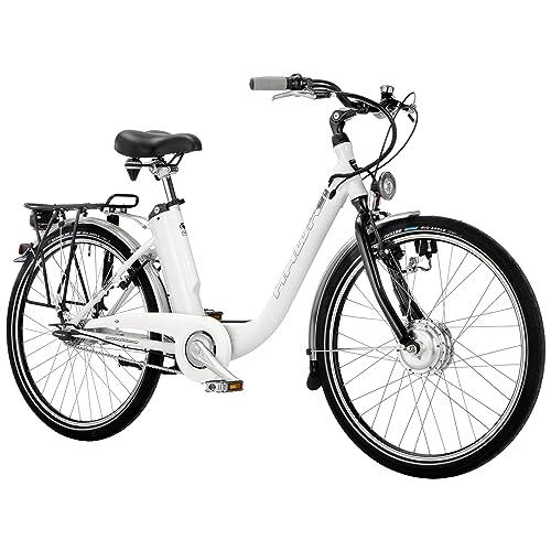 """E-Bike Hawk Deep à Z City Pedelec avec batterie intégrée et 7vitesses Moyeu 26et 28"""""""