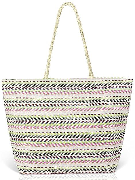 Amazon.com: Bolsas de playa para mujeres verano colorido ...
