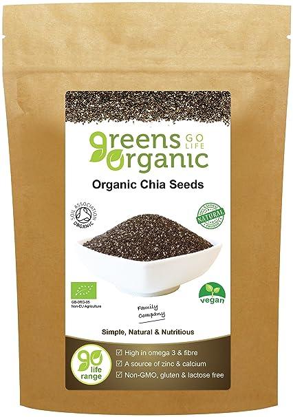Greens Organic Organic Semillas De Chía 250 g: Amazon.es: Salud y ...