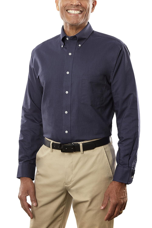 Van Heusen Mens Dress Shirt Regular Fit Oxford Solid