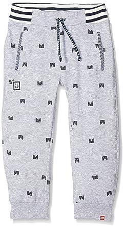 Legowear Boy's Parkin 601-Sweatpants Trousers, Grey (Grey Melange), 9-