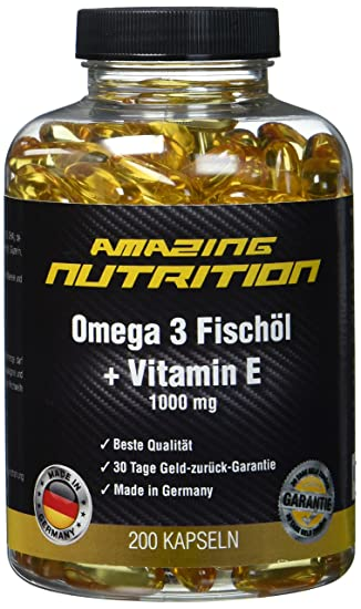 Omega 3 Fischöl 1000mg + Vitamine E - Essentiell Für Den ...