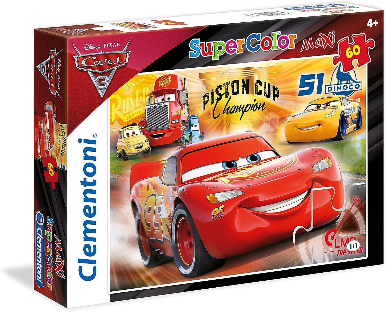 Clementoni- Disney Cars Puzzle, 60 Piezas, Multicolor (26424.7)