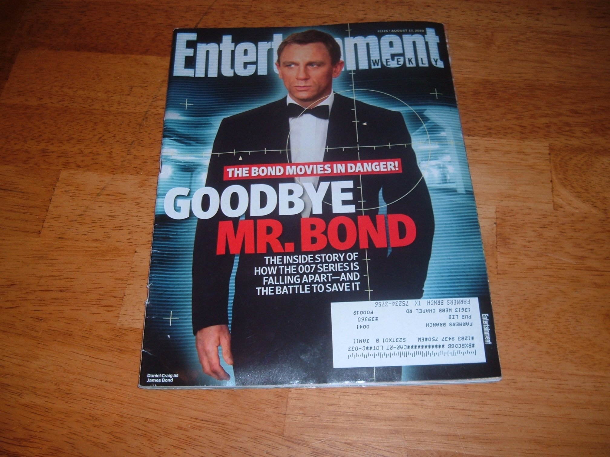 Read Online Entertainment Weekly August 13 2010 Daniel Craig/James Bond 007 on Cover (Goodbye Mr. Bond), Christina Applegate, Mad Men, Lost, Carl Hiaasen - The Books that Hooked Me ebook