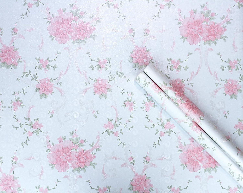 d-c-fix Sticky Back Plastic Self Adhesive Vintage Flowers Romantic 45cm x 15m