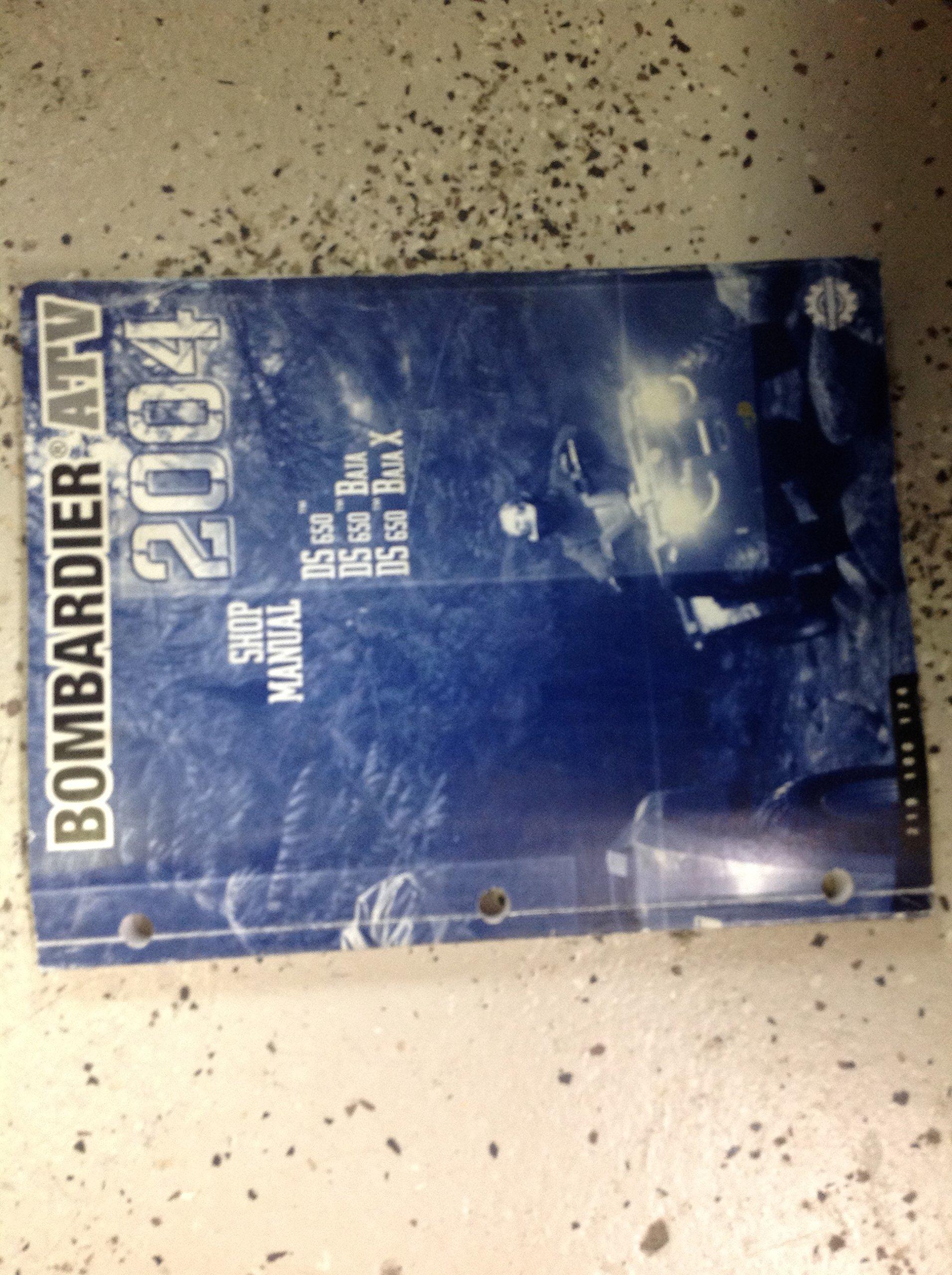 2004 BOMBARDIER DS 650 BAJA Service Shop Repair Manual OEM BOOK FACTORY:  BOMBARDIER: Amazon.com: Books