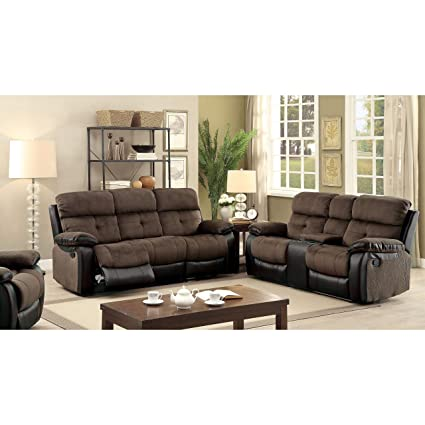 amazon com furniture of america fawnie 2 piece two tone champion rh amazon com