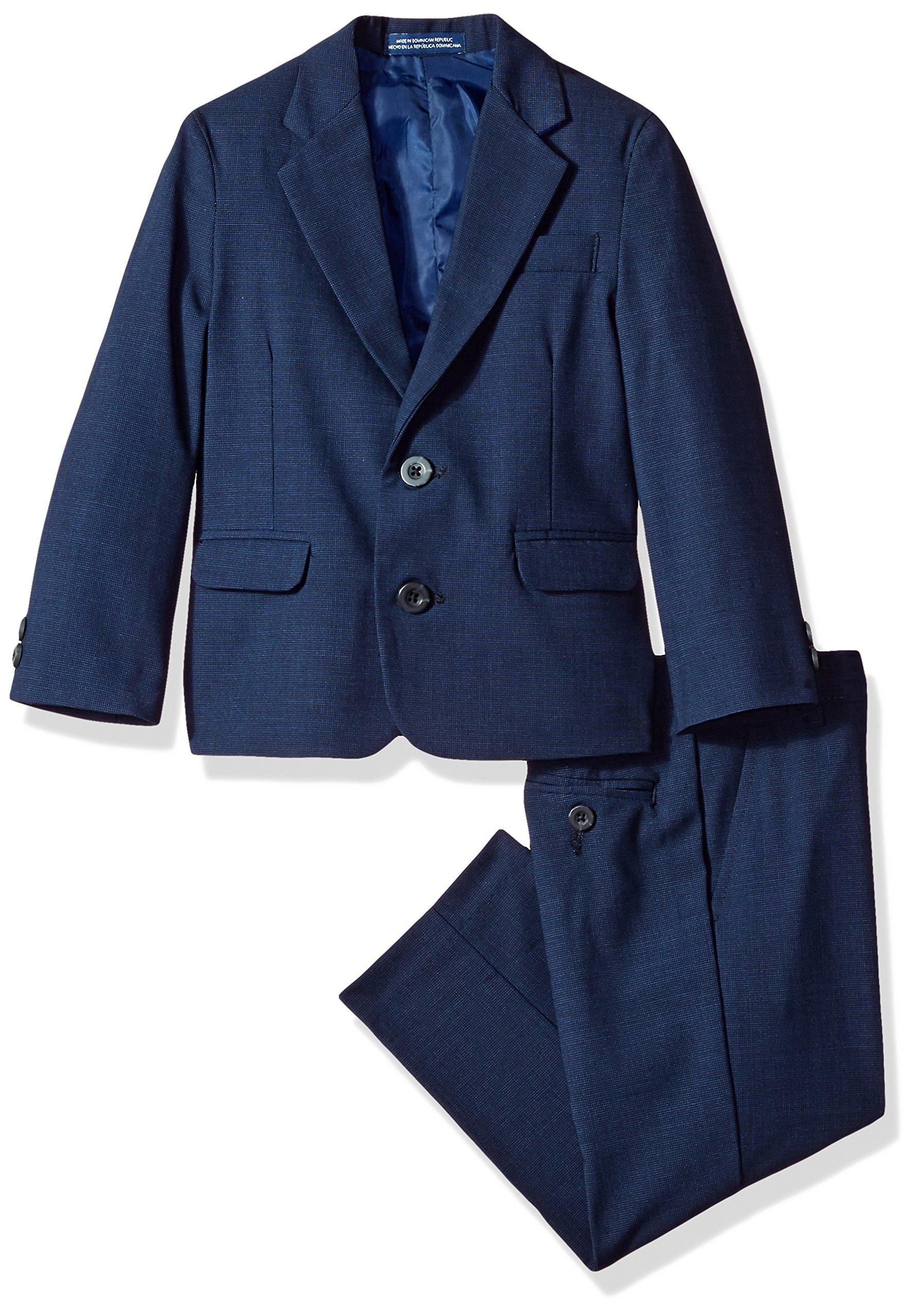 IZOD Big Boys' Two Piece Bi-Stretch Suit, Dark Blue, 14