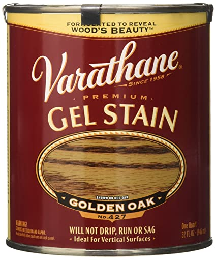 Varathane 224456H Premium Gel Stain Quart Golden Oak