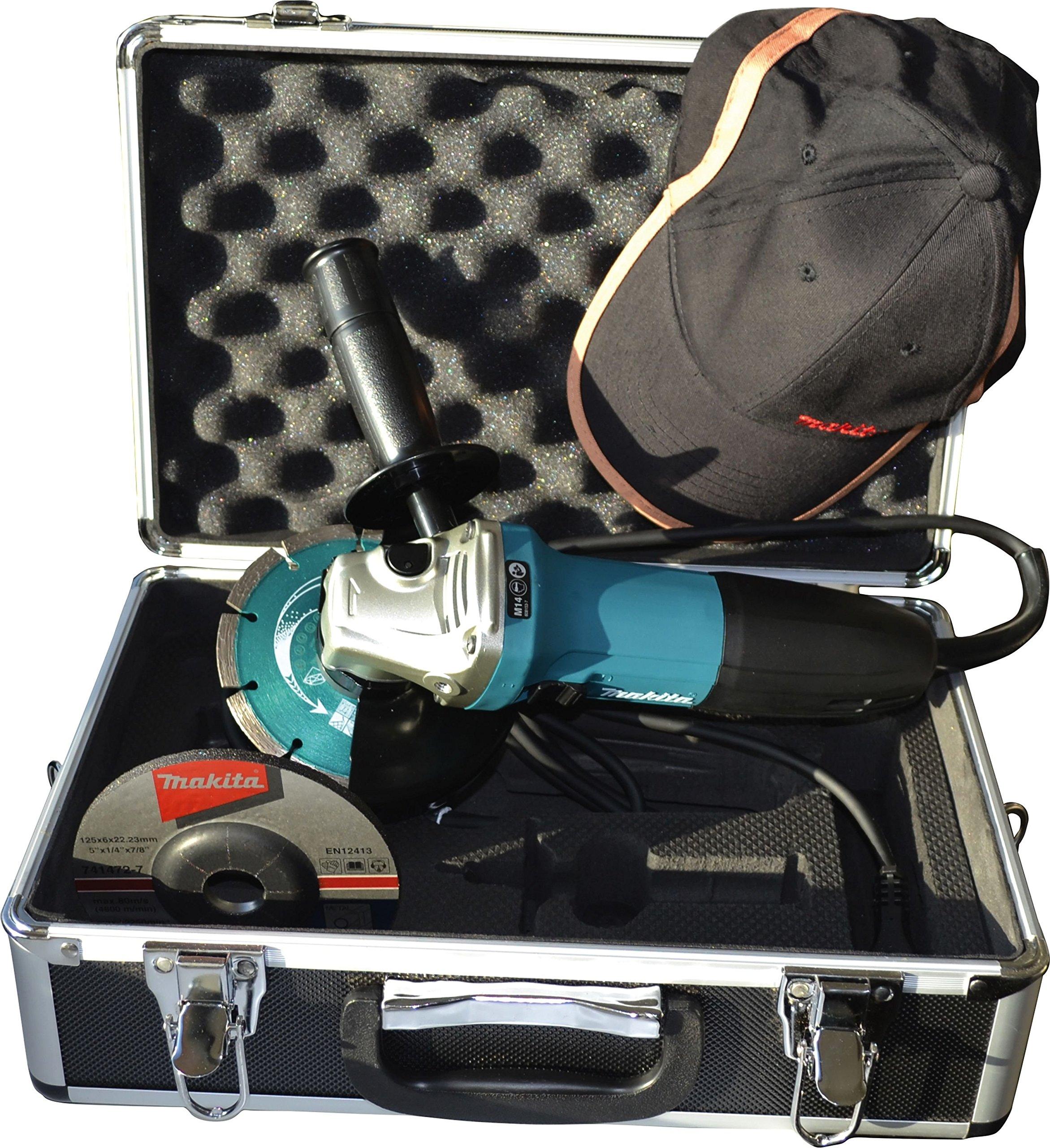 Makita smerigliatrice angolare, 125 mm in valigetta con accessori 720 W, GA5030RSP1 product image
