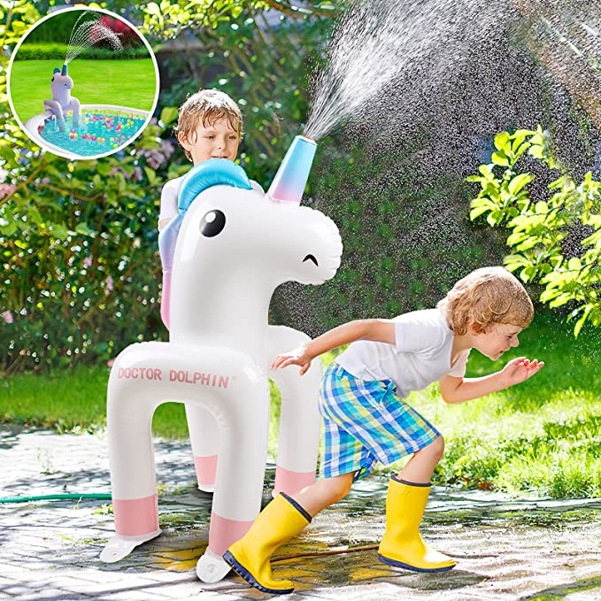 Sprinkler for Kids, Unicorn Toys for Baby Pool, Inflatable Sprinkler Water Toys for Swimming Pool, Blow up Pool, Family Pool, inflatable pool | Amazon