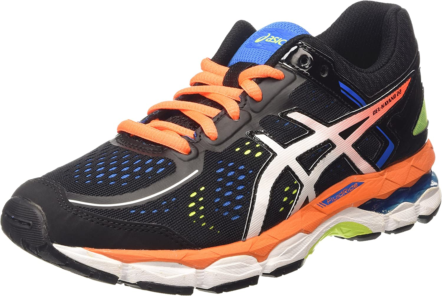 ASICS - Gel-Kayano 22 GS, Zapatillas de Running Niños-Niñas, Negro (Black/Hot Orange/Electric Blue 9030), 33 EU: Amazon.es: Zapatos y complementos