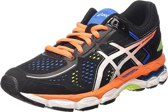 ASICS - Gel-Kayano 22 GS, Zapatillas de Running Niños-Niñas, Negro (Black/Hot Orange/Electric Blue 9030), 33 EU: Amazon.es: Zapatos y complementos