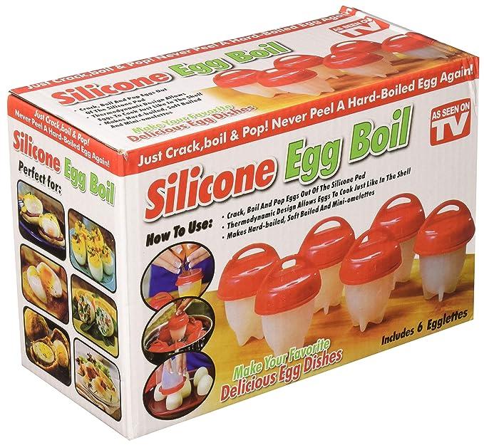 Yeahbeer Egglettes- Huevo de cocina rígido y suave, de silicona ...