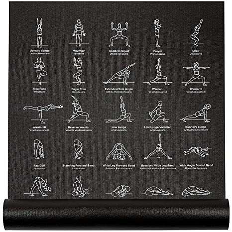 bd6a9b906 NewMe Fitness Instructional Yoga Mat Printed w  70 Illustrated Poses
