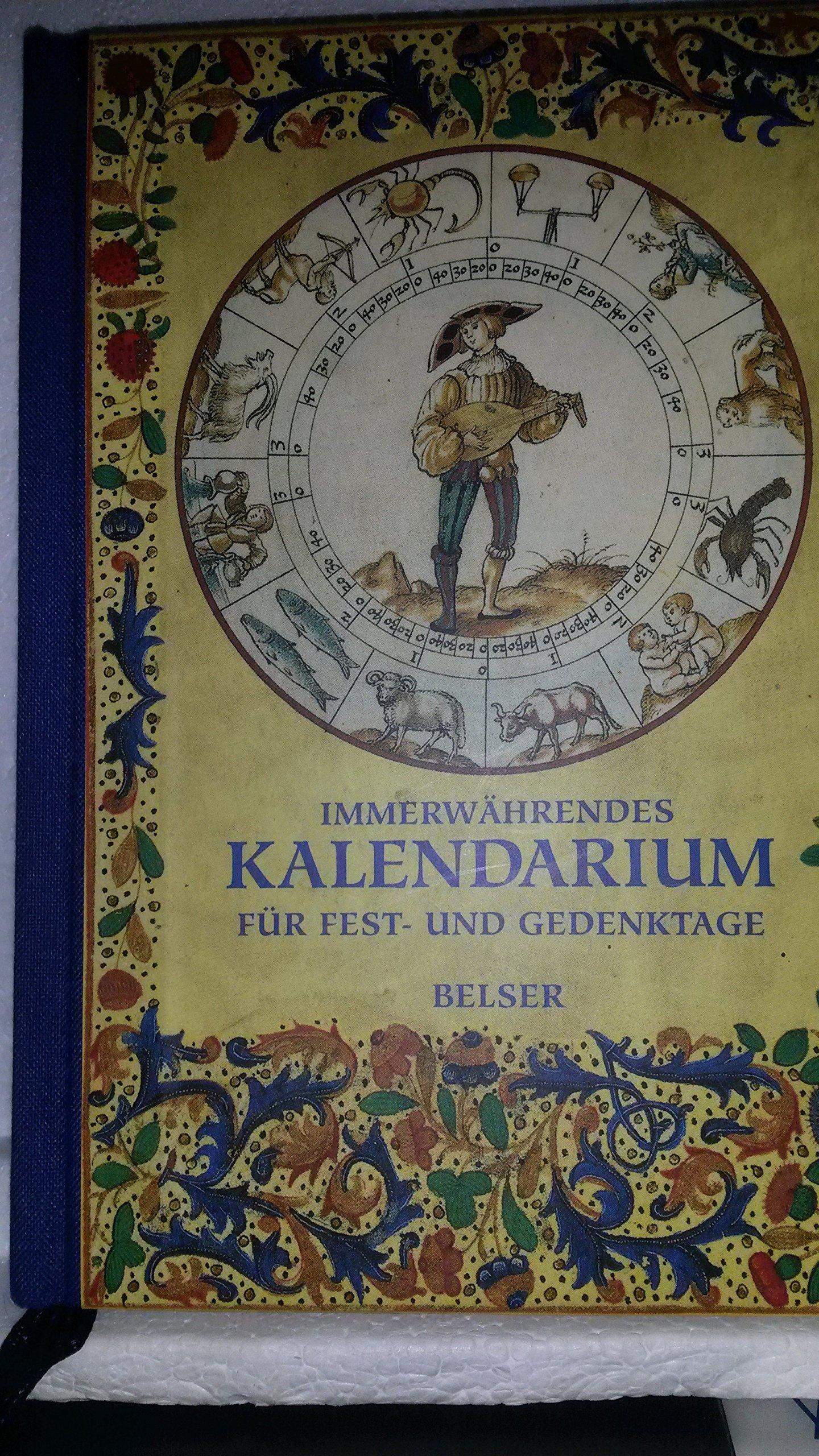 Immerwährendes Kalendarium: Für Fest- und Gedenktage. Mit Bildern aus Prachthandschriften der Biblioteca Apostolica Vaticana