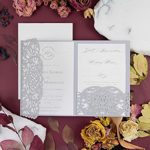 Amazon Partecipazioni Matrimonio.Apribile Taglio Laser Inviti Matrimonio Fai Da Te Partecipazioni