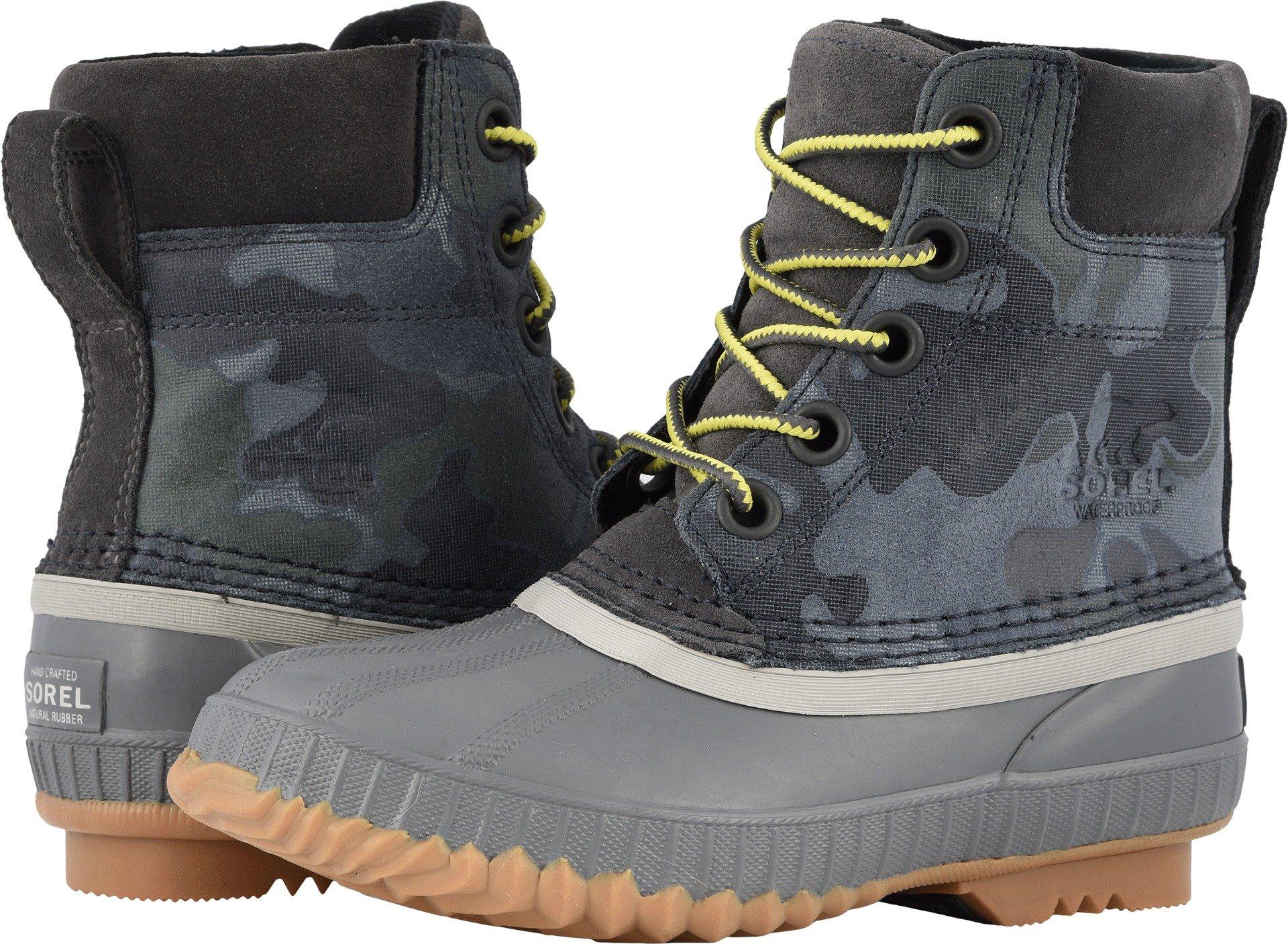 SOREL Boys' Youth Cheyanne II Lace Chukka Boot, Dark Grey, Dove, 6 M US Big Kid