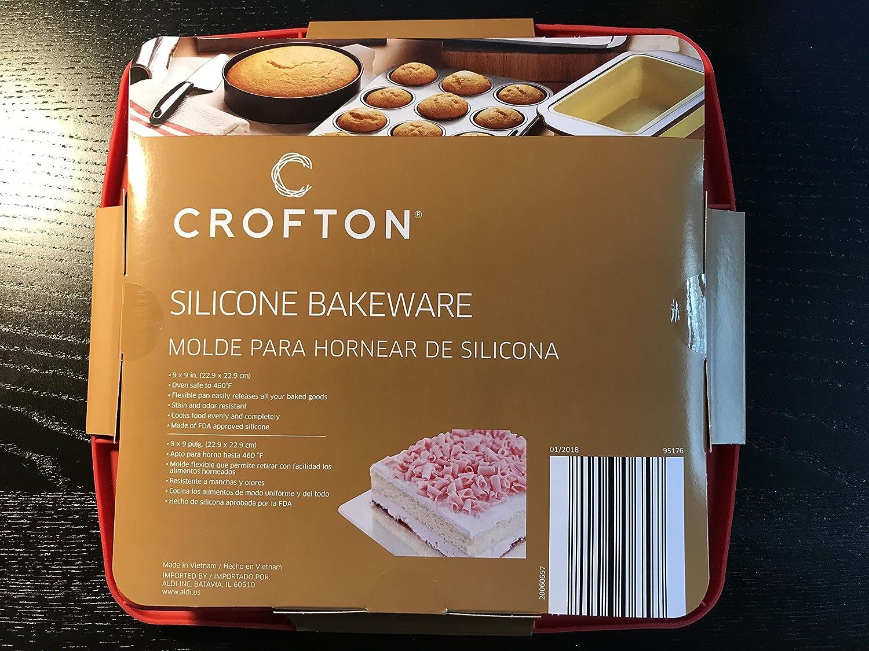 crofton moldes de silicona molde rojo, 22,8 cm, sin BPA, antiadherente european-grade silicona: Amazon.es: Hogar