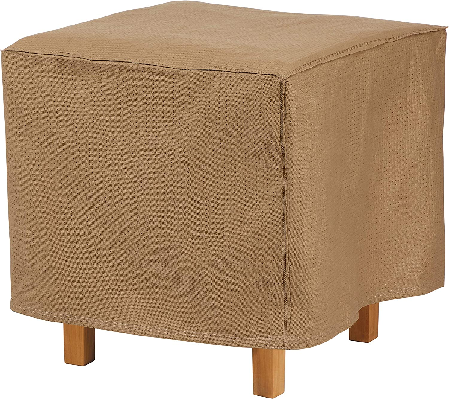 Duck Covers Essential Water-Resistant 26 Inch Square Patio Ottoman/Side Table Cover