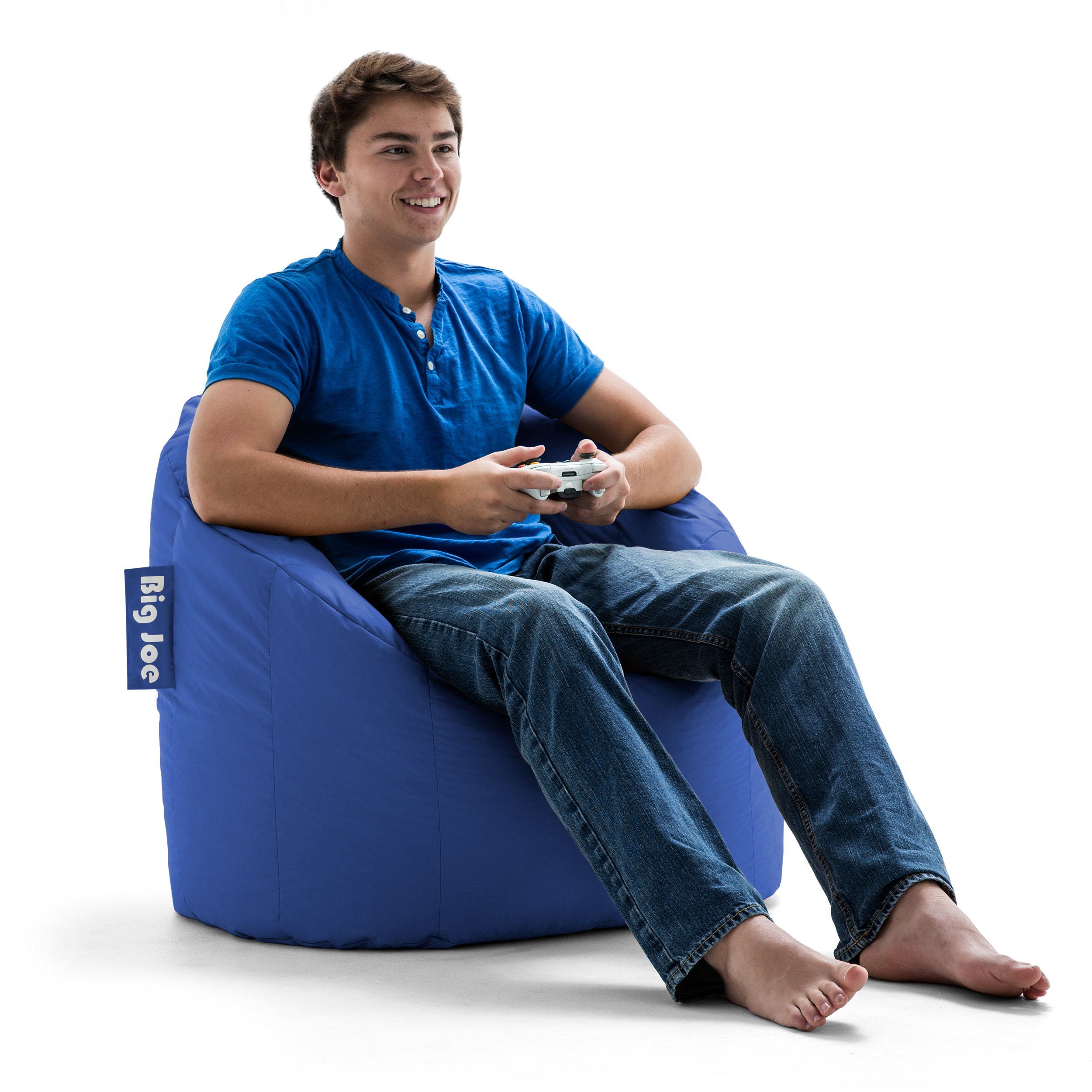 Prime Details About Big Joe Milano Bean Bag Chair Sapphire Cozy Soft Seat Gaming Room Dorm Gamerscity Chair Design For Home Gamerscityorg