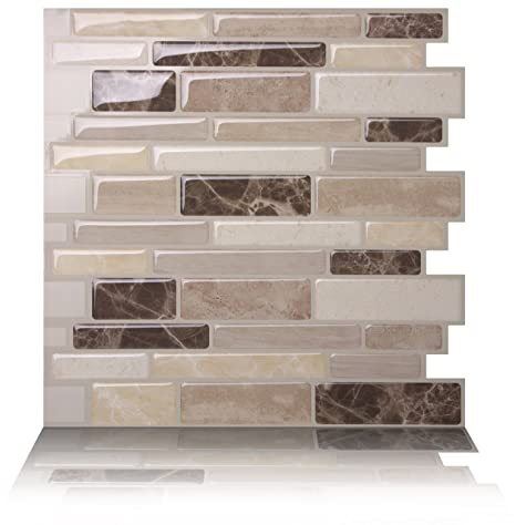 Amazon.com: Tic Tac Tiles Anti Mold Peel And Stick Wall Tile In Polito  Bella (10 Tiles): Home Improvement