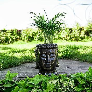 Concretelab Co Tete De Bouddha Pot De Fleurs En Ceramique