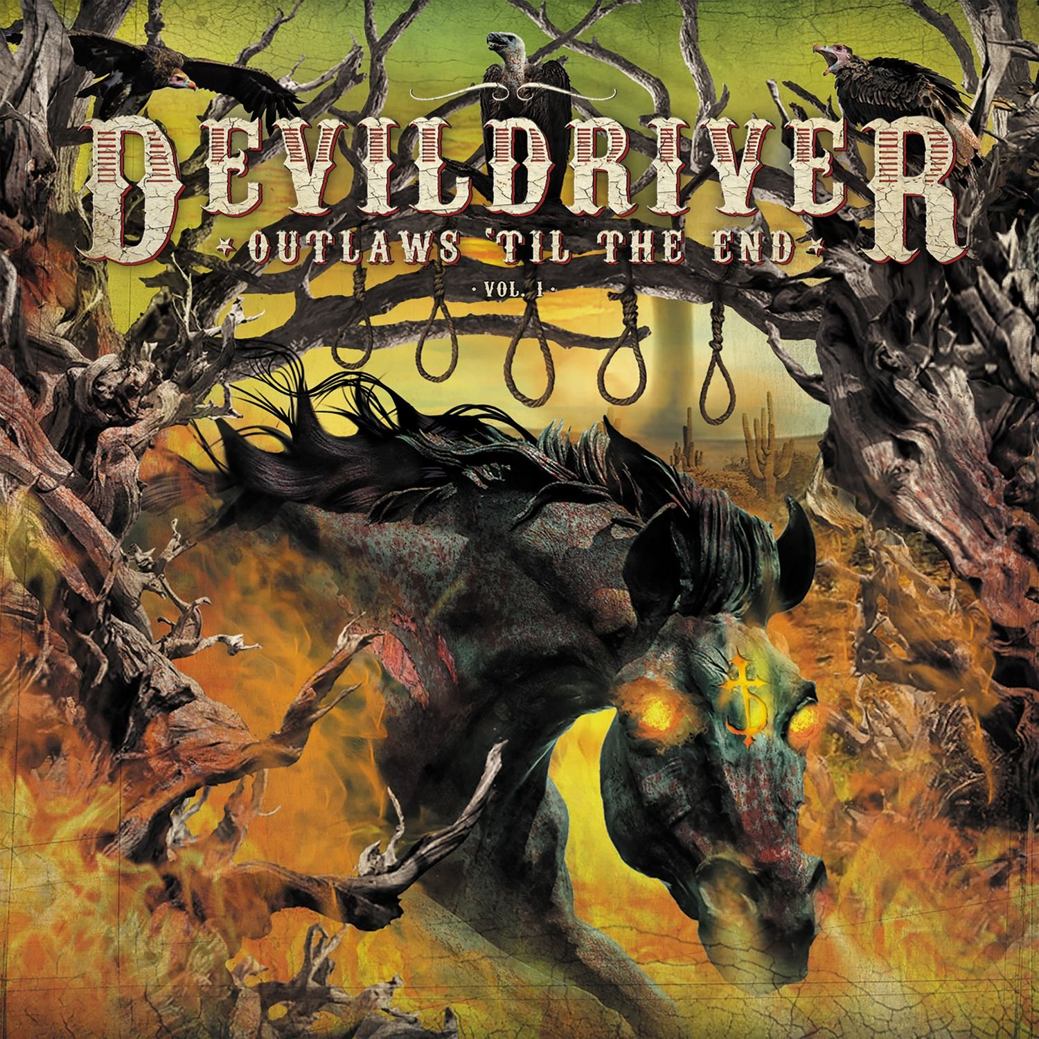Vinilo : DevilDriver - Outlaws 'til The End 1 (Colored Vinyl, Orange)
