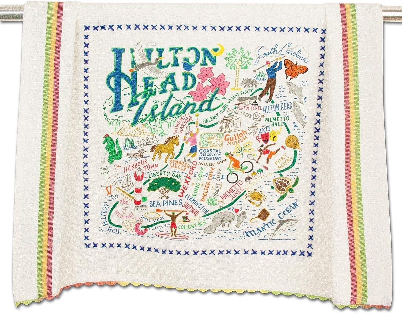 catstudio Hilton Head Dish & Hand Towel | Beautiful Award Winning Home Decor Artwork | Great For Kitchen & Bathroom