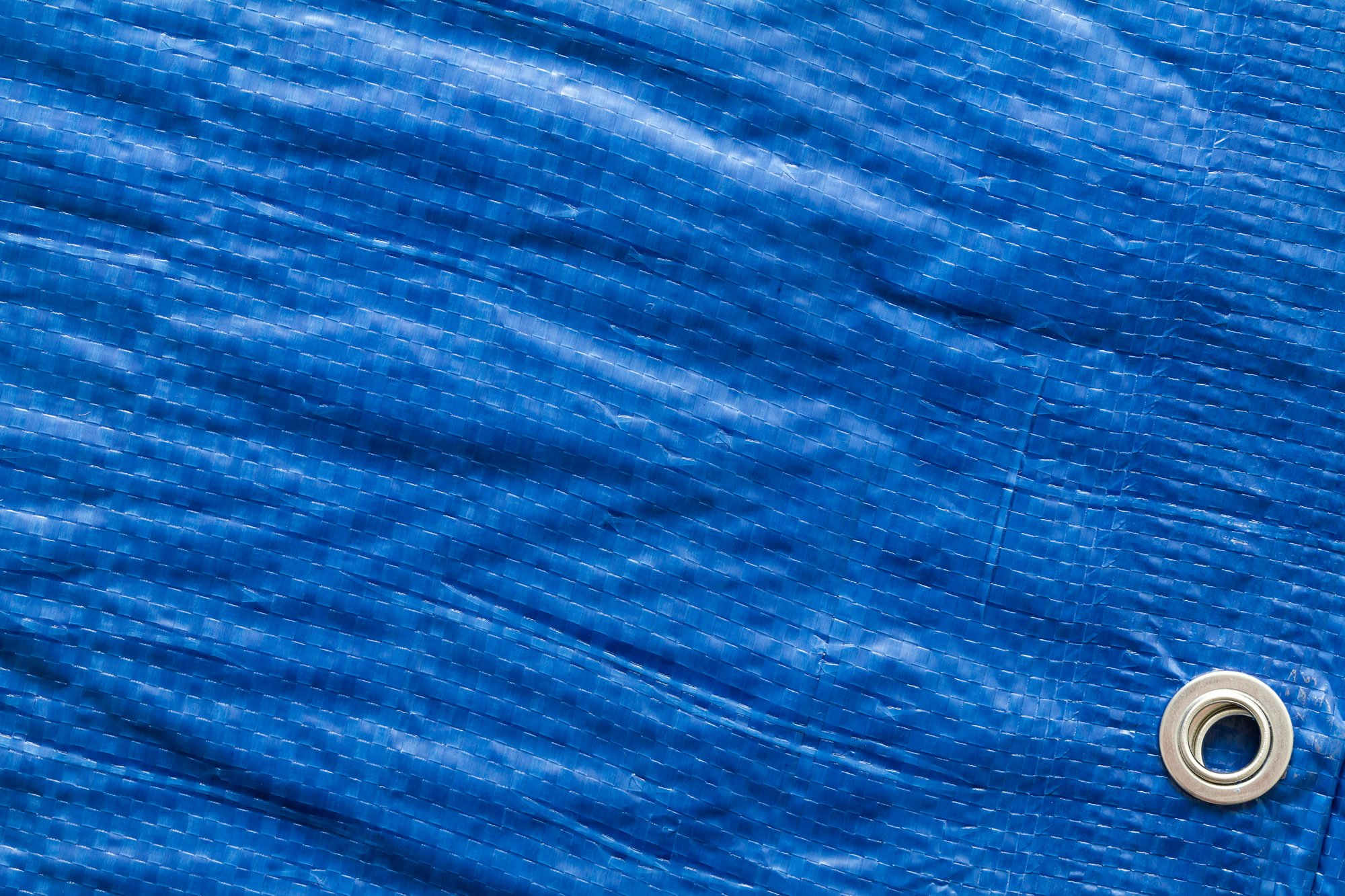 Waterproof Tarpaulin Lightweight Ground Sheet Camping Tarp Cover Blue 5m x 8m
