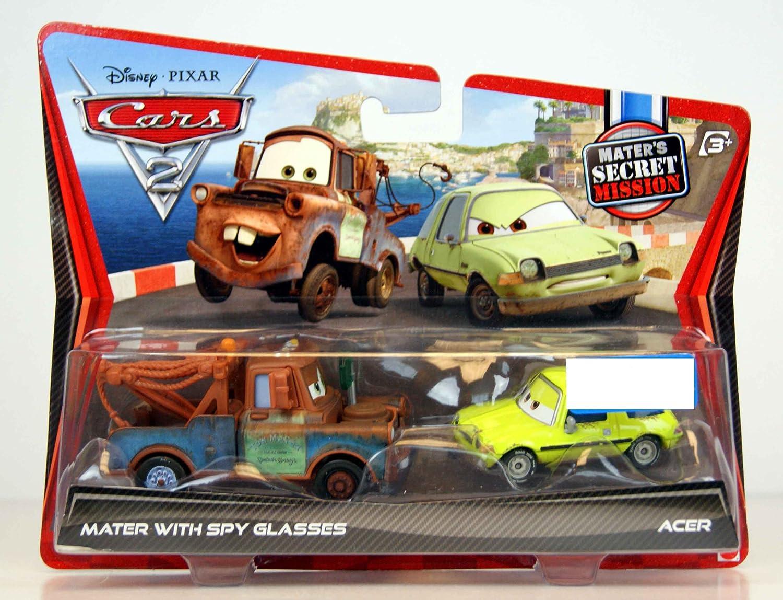 Disney / Pixar CARS 2 Movie Exclusive 155 Die Cast Car 2Pack Mater with Spy Glasses Acer Maters Secret Mission