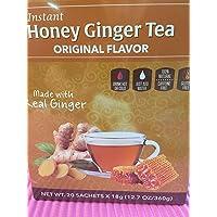 (40 Bags) Pocas Instant Ginger Honey Tea 18g/0.63oz (Honey Ginger Original)