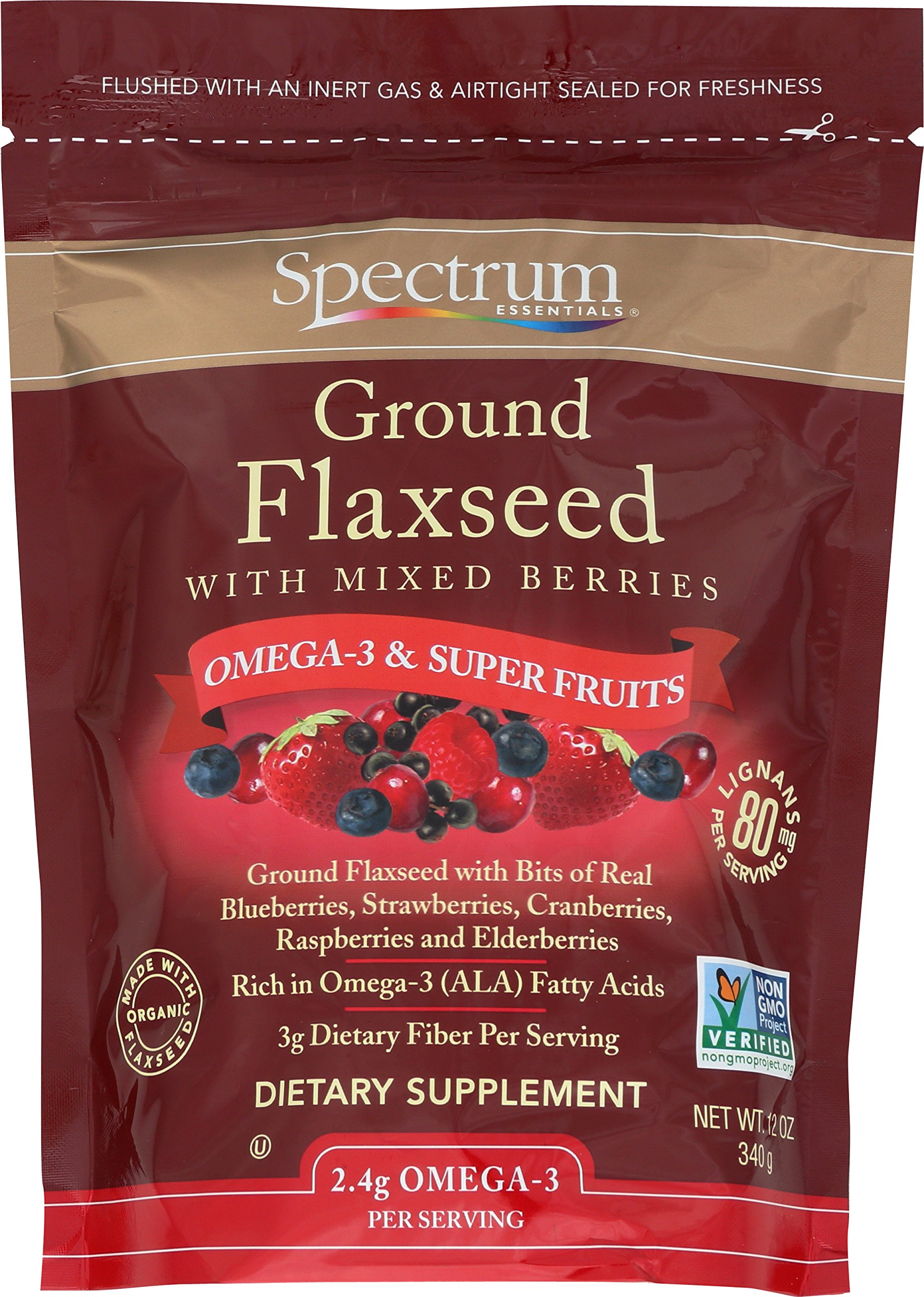 Spectrum Essentials Ground Flaxseed with Mixed Berries, 12 Ounce