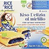 Probios Riso Delizia Mirtillo e Grano Saraceno senza Latte, Fonte di Fibre - 5 Confezioni da 6 Snacks