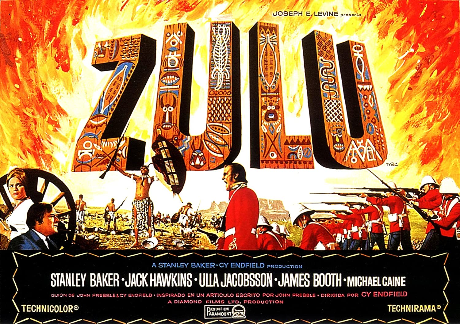 Zulu 4  British Movie Posters Classic /& Vintage  Films